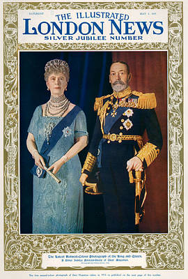 King George V Drawing - 1930s Uk Illustrated London News by The Advertising Archives