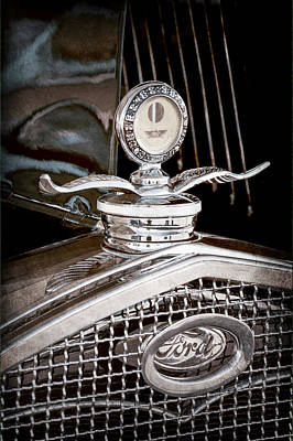Hood Ornament Photograph - 1931 Model A Ford Deluxe Roadster Hood Ornament by Jill Reger