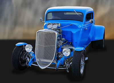Street Rod Photograph - 1933 Ford 3-window Coupe   by Frank J Benz