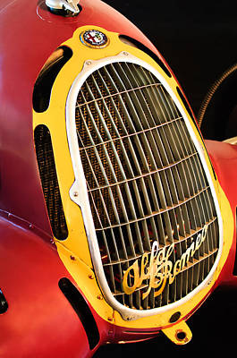 Photograph - 1935 Alfa Romeo 8c-35 Grille Emblem -0006c by Jill Reger