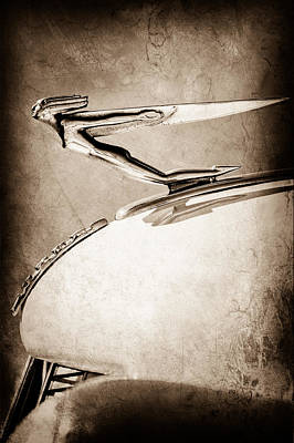 Photograph - 1935 Auburn Hood Ornament by Jill Reger