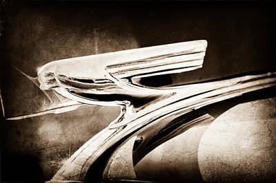 1937 Chevrolet 2 Door Sedan Hood Ornament Art Print by Jill Reger