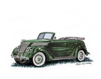 1937 Ford 4 Door Convertible Original