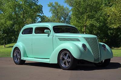 Photograph - 1937 Ford Sedan Hot Rod by Tim McCullough