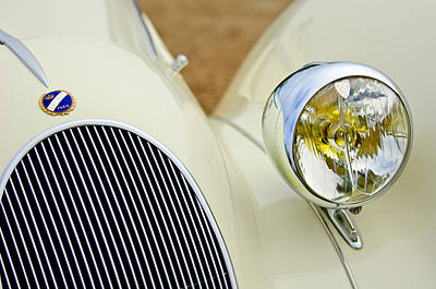 Headlight Photograph - 1937 Talbot-lago T150c Figoni And Falaschi Cabriolet by Jill Reger