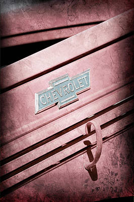 Chevrolet Pickup Photograph - 1938 Chevrolet Pickup Truck Emblem by Jill Reger
