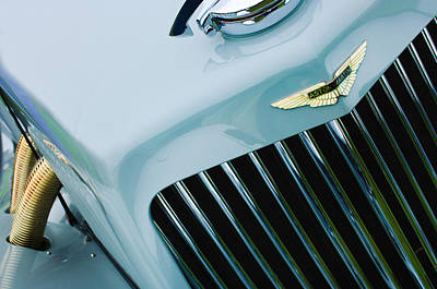 Photograph - 1939 Aston Martin 15-98 Abbey Coachworks Swb Sports Grille Emblem by Jill Reger