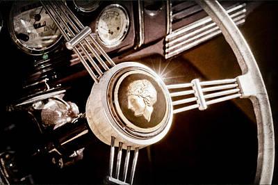Photograph - 1939 Ford Standard Woody Steering Wheel by Jill Reger