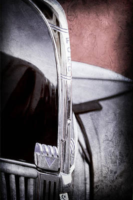 Old Latch Photograph - 1940 Ford Hood Ornament by Jill Reger