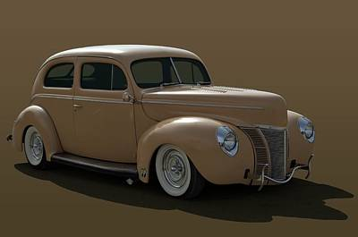 Photograph - 1940 Ford Sedan Hot Rod by Tim McCullough