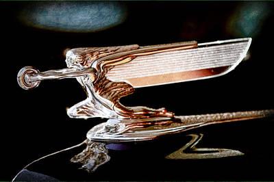 Goddess Images Photograph - 1940 Packard 110 Custom Convertible Hood Ornament by Jill Reger