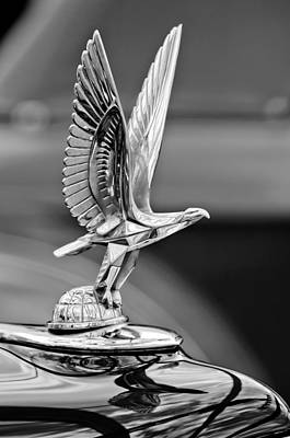 180 Wall Art - Photograph - 1940 Packard Custom Super-eight 180 Convertible Victoria Hood Ornament by Jill Reger