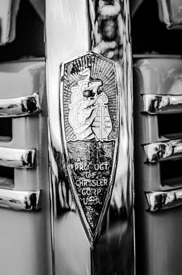 Woody Wagon Photograph - 1940 Plymouth Deluxe Woody Wagon Emblem by Jill Reger