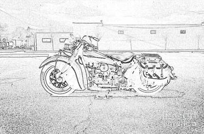 Photograph - 1941 Indian Four Cylinder by Classic Spokes And Strings