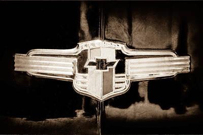 1942 Photograph - 1942 Chevrolet Emblem by Jill Reger