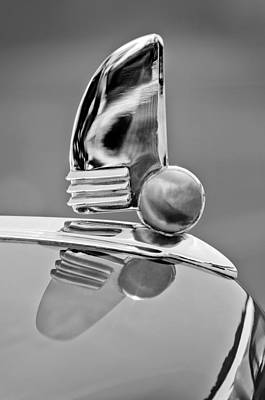 Photograph - 1942 Lincoln Continental Cabriolet Hood Ornament by Jill Reger