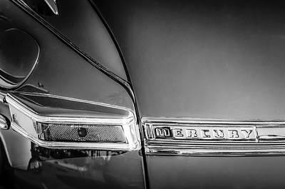 Photograph - 1946 Mercury Rear Emblem by Jill Reger