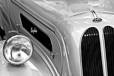 Old Car Door Photograph - 1948 Anglia 2-door Sedan Grille Emblem by Jill Reger