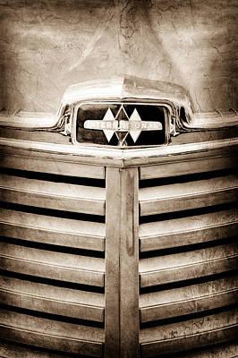 Photograph - 1948 International Hood Emblem by Jill Reger