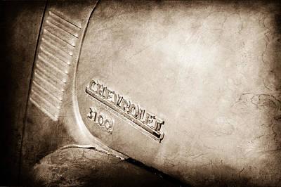 1949 Chevrolet 3100 Pickup Truck Emblem Art Print
