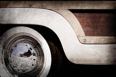 Wagon Photograph - 1949 Mercury Station Woodie Wagon Wheel Emblem - Hood Ornament by Jill Reger