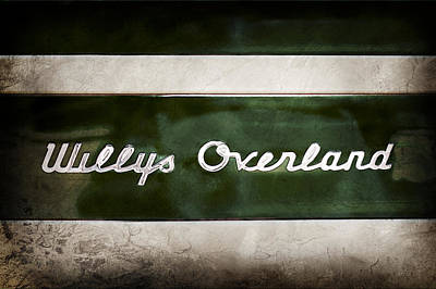 Photograph - 1949 Willys Jeep Station Wagon Emblem by Jill Reger