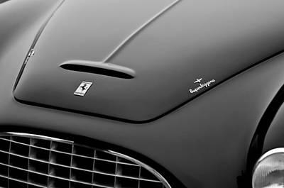 1951 Ferrari 212 Export Touring Berlinetta Hood Emblems Art Print