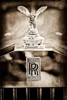 Photograph - 1952 Rolls-royce Hood Ornament by Jill Reger