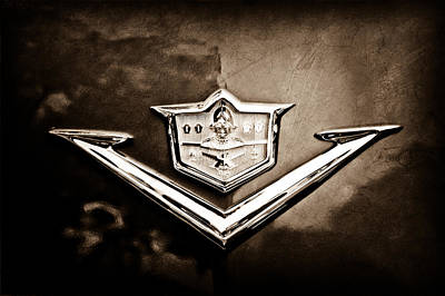 Photograph - 1953 Desoto Firedome Convertible Emblem by Jill Reger