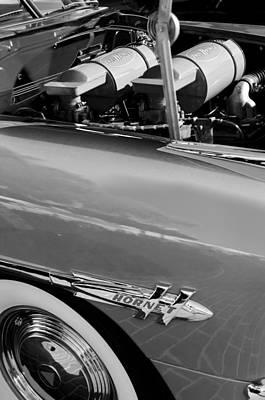 Photograph - 1953 Hudson Hornet Sedan Engine by Jill Reger