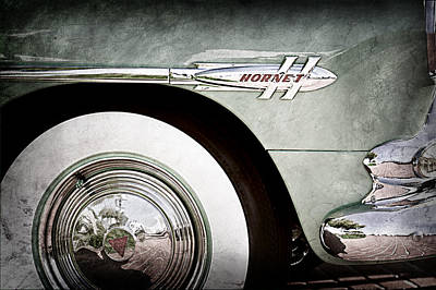 Photograph - 1953 Hudson Hornet Sedan Wheel Emblem by Jill Reger