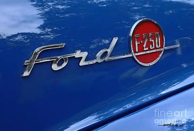 1954 Ford F250 Insignia. Art Print
