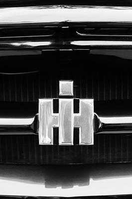 1954 Photograph - 1954 International Harvester R140 Woody Grille Emblem by Jill Reger