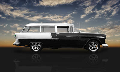 Photograph - 1955 Chevrolet Bel Air Wagon by Frank J Benz