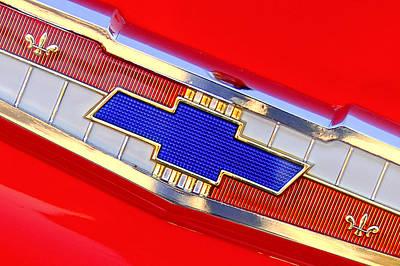 Vintage Chevy Photograph - 1955 Chevrolet Belair Nomad Emblem by Jill Reger