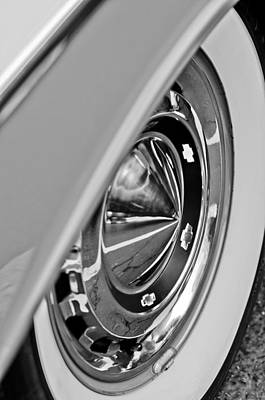 1955 Chevrolet Photograph - 1955 Chevrolet Belair Wheel by Jill Reger