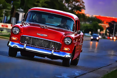 Digital Art - 1955 Chevy Bel Air by Gordon Dean II
