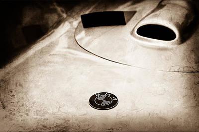 Photograph - 1956 Avia Mk3 Monoposto Streamliner Hood Emblem by Jill Reger