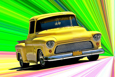 Royalty-Free and Rights-Managed Images - 1956 Chevrolet Custom Pick Up by Dave Koontz