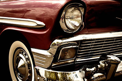 1956 Chevy Bel Air Art Print by David Patterson