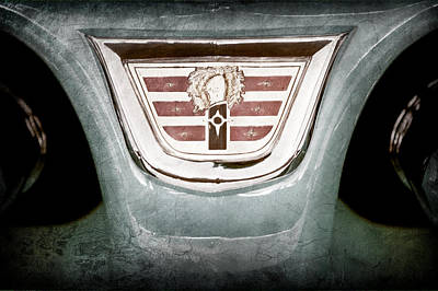 1956 Dodge 2 Door Wagon Emblem Art Print by Jill Reger