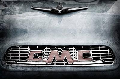 1956 Gmc 100 Deluxe Edition Pickup Truck Hood Ornament - Grille Emblem Art Print by Jill Reger