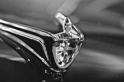 1956 Lincoln Premiere Convertible Hood Ornament Art Print by Jill Reger