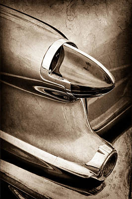Photograph - 1956 Oldsmobile 98 Taillight by Jill Reger