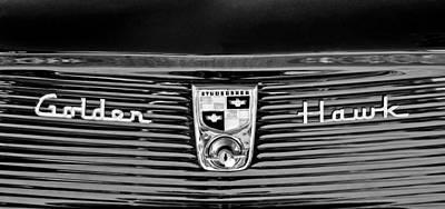 Photograph - 1956 Studebaker Golden Hawk Emblem by Jill Reger
