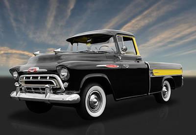1957 Chevrolet Cameo Art Print by Frank J Benz