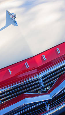 Photograph - 1957 Ford Custom 300 Series Ranchero Hood Ornament - Emblem by Jill Reger