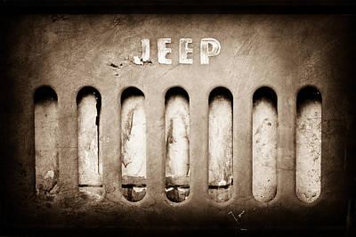 Jeep Photograph - 1957 Jeep Emblem by Jill Reger