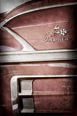 1958 Chevrolet Impala 2 Door Convertible Emblem Art Print