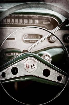 1958 Chevrolet Impala Steering Wheel Emblem Art Print